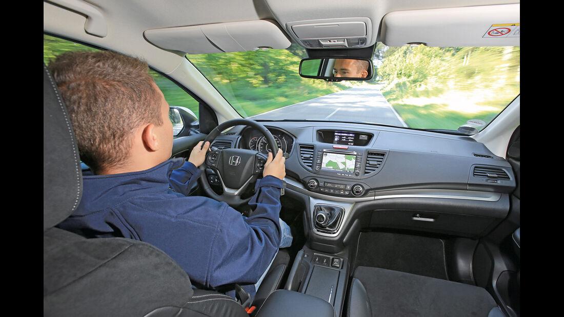 Honda CR-V 1.6 i-DTEC 2WD, Cockpit, Fahrersicht