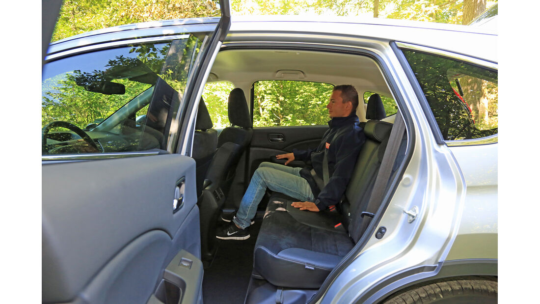 Honda CR-V 1.6 i-DTEC 2WD, Rücksitz, Beinfreiheit