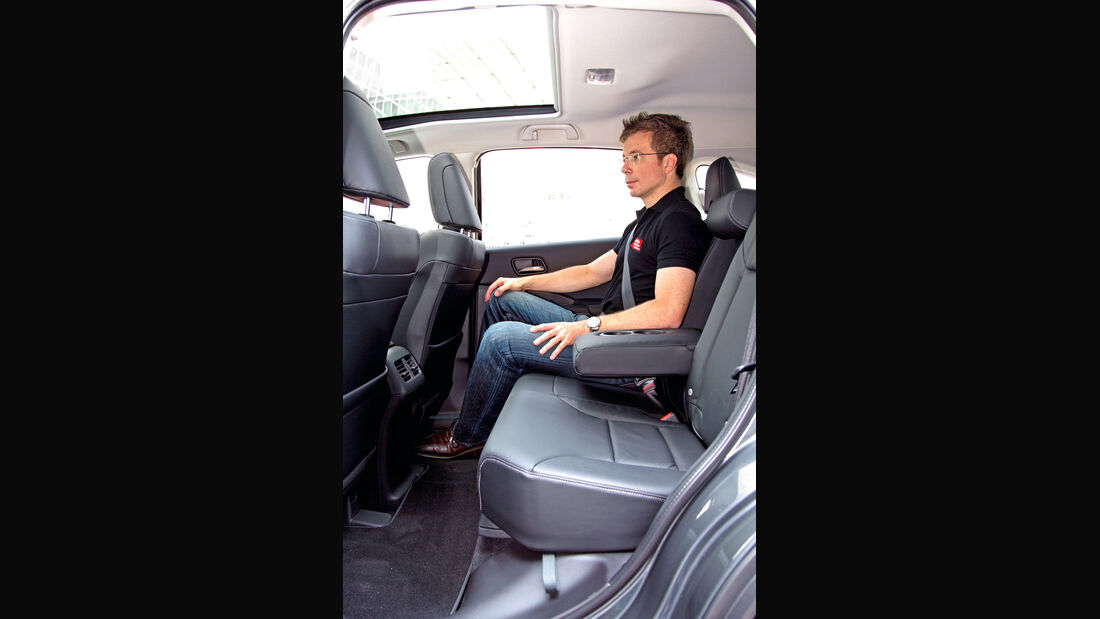 Honda CR-V, Rücksitz, Armlehne, Beinfreiheit