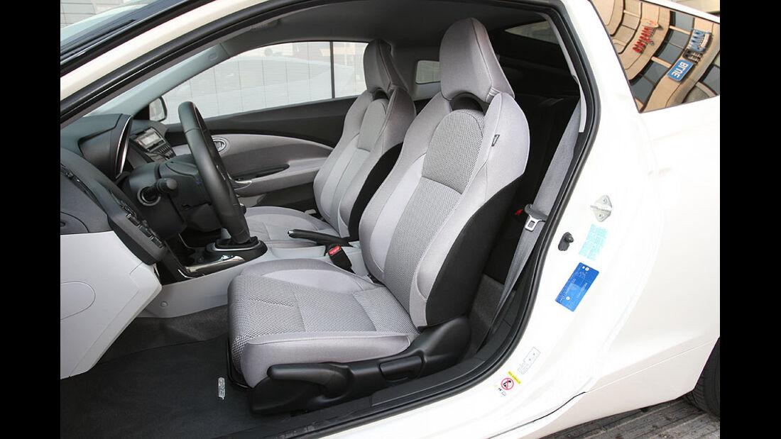 Honda CR-Z, Fahrersitz