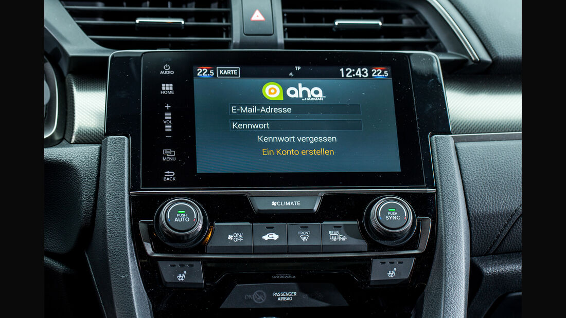 Honda Civic 1.0 VTEC Turbo, Infotainment