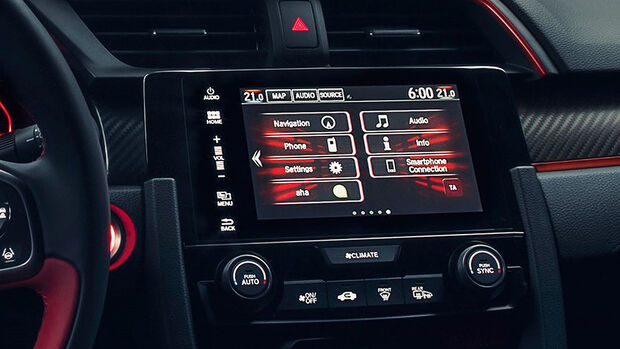 Honda Civic Type R 2017, Infotainment
