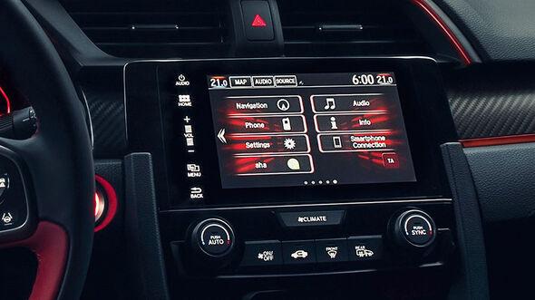 Honda Civic Type R 2017, Infotainment