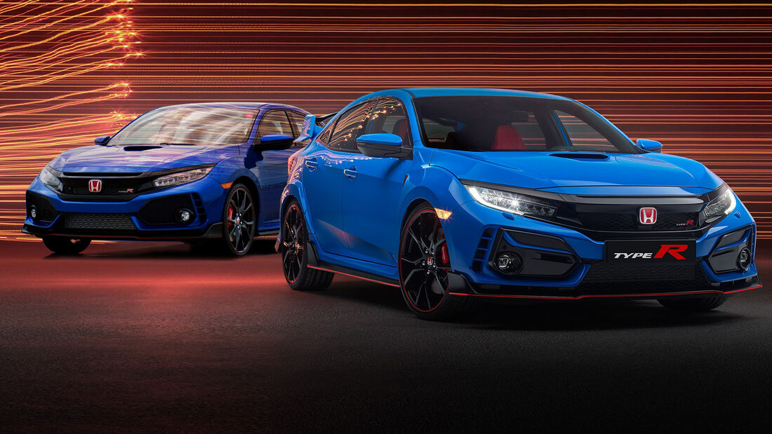 Honda Civic Type R 2020 alt/neu Collage Facelift