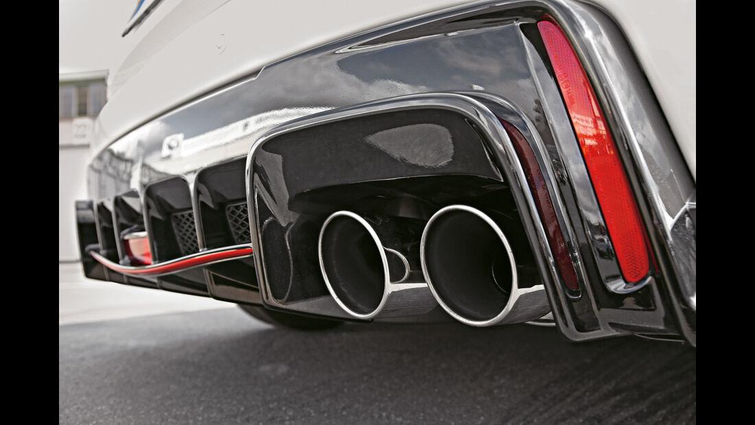 Honda Civic Type R, Auspuff, Endrohr