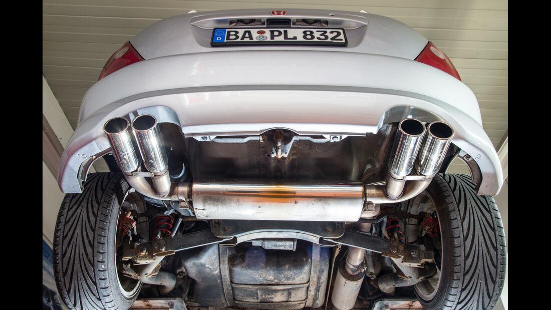 Honda Civic Type R, Hebebühne, Endrohre