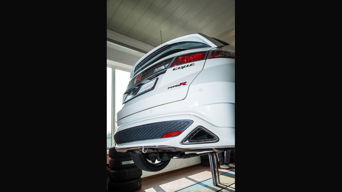 Honda Civic Type R, Heck