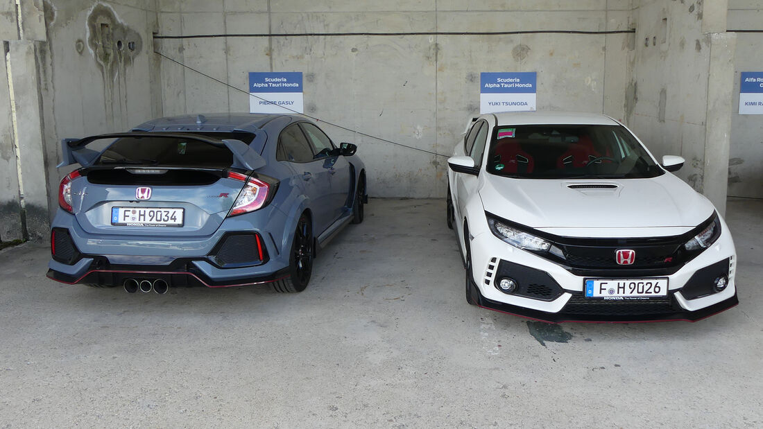 Honda Civic Type R - Pierre Gasly - Yuki Tsunoda - Formel 1 - Fahrerautos - GP Ungarn 2021