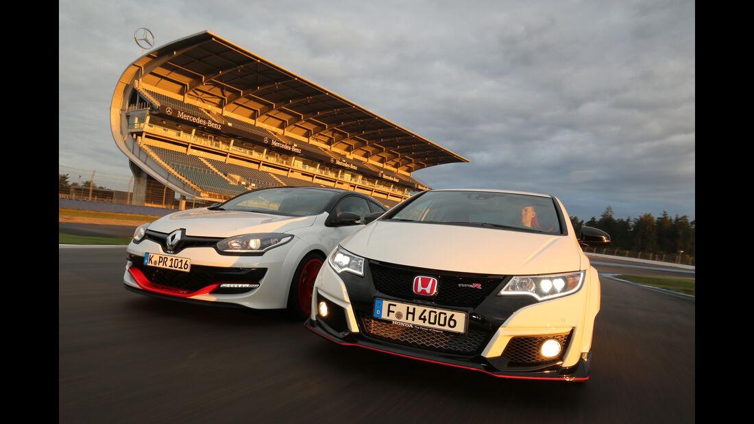 Honda Civic Type R, Renault Mégane R.S. Trophy-R,