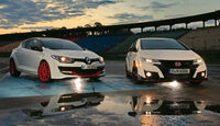 Honda Civic Type R, Renault Mégane R.S. Trophy-R, Frontansicht