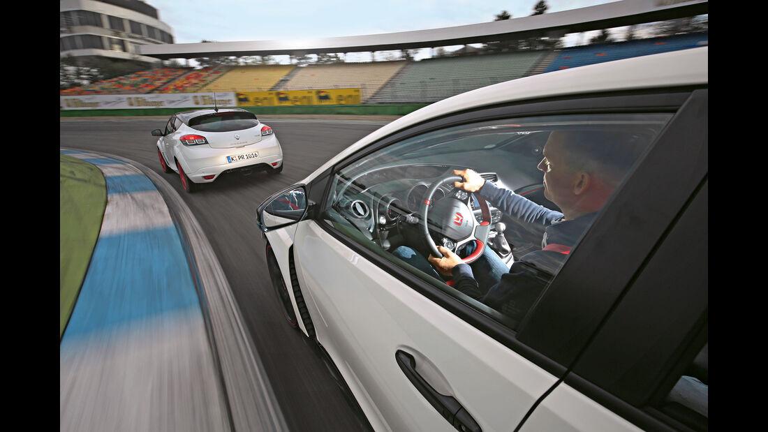 Honda Civic Type R, Renault Mégane R.S. Trophy-R, Hockenheim