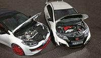 Honda Civic Type R, Renault Mégane R.S. Trophy-R, Motoren