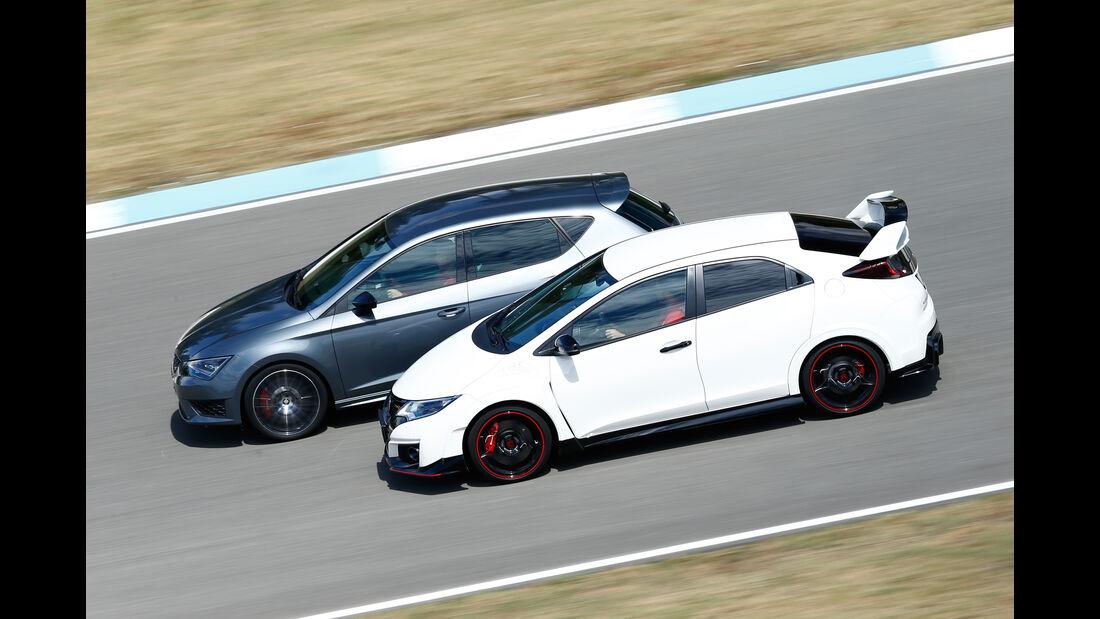Honda Civic Type R, Seat Leon Cupra 280, Seitenansicht