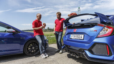 Honda Civic Type R, VW Golf R 2.0 TSI 4 Motion, Exterieur