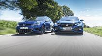Honda Civic Type R, VW Golf R 2.0 TSI 4 Motion, Exterieur Front