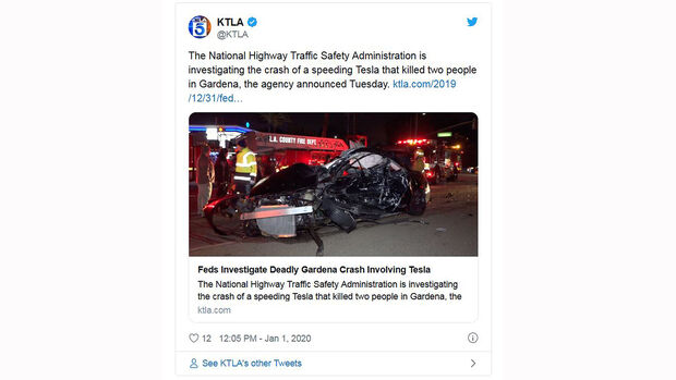Honda Civic nach Tesla-Autopilot-Unfall