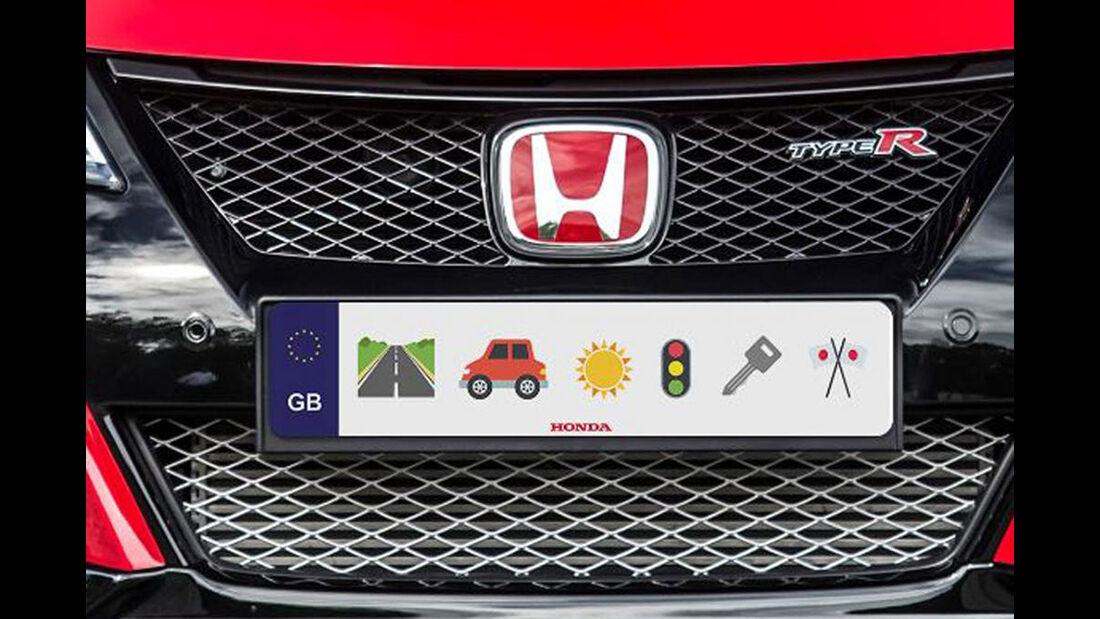 Honda Emoji Kennzeichen Aprilscherz
