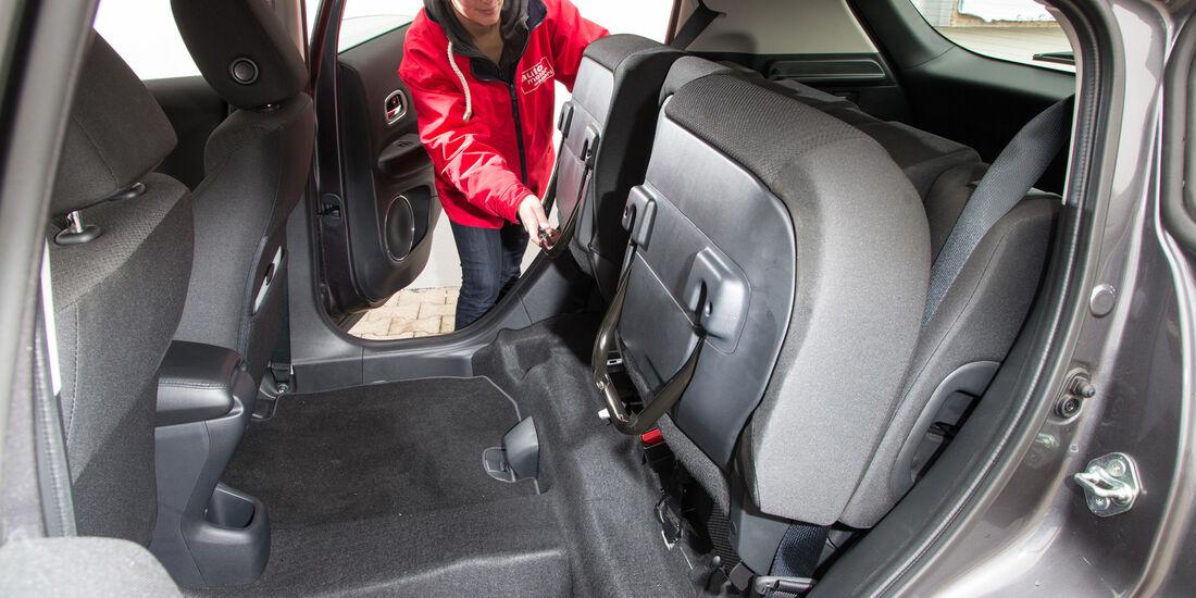 Honda HR-V 1.6 i-DTEC, Fondsitze, Umklappen