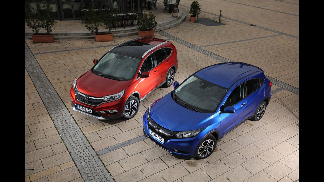 Honda HR-V oder CR-V, Draufsicht