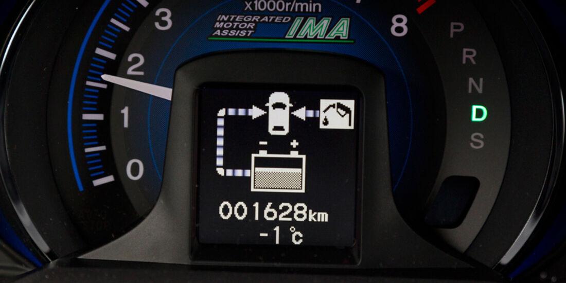 Honda Insight Exclusive, Rundelement, Reichweitenanzeige