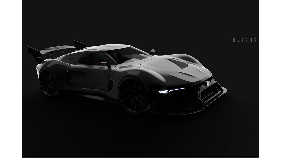 honda invisus 2020: v8-supersportwagen vom designer - auto