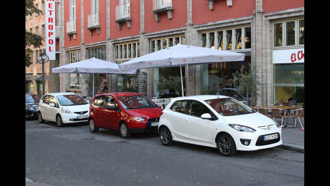 Honda Jazz 1.2 i-VTEC Trend, Mazda 2 1.3 MZR Dynamic, Mitsubishi Colt 1.3 Inform