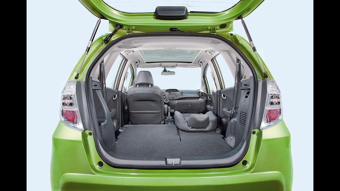 Honda Jazz Hybrid, Kofferraum