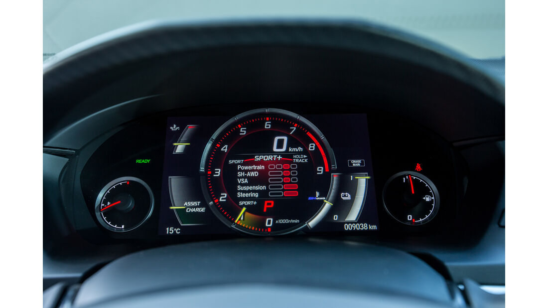 Honda NSX, Anzeigeinstrumente