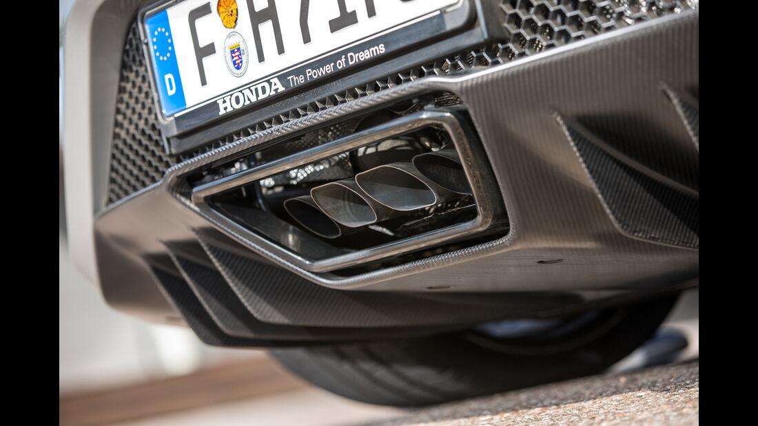 Honda NSX, Auspuff, Endrohre