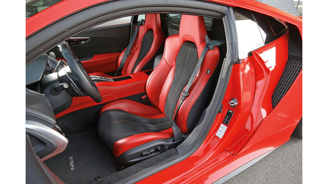 Honda NSX, Fahrersitz