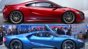 Honda NSX Ford GT Vergleich