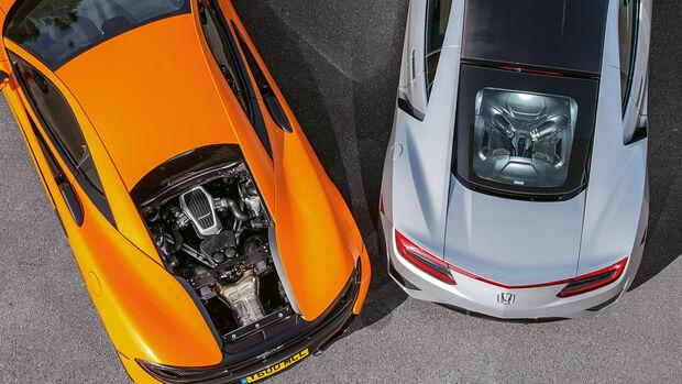 Honda NSX, McLaren 570S, Motor