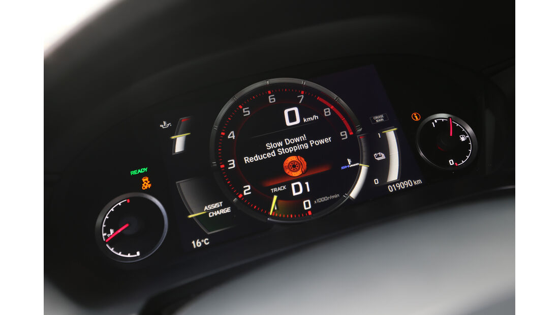 Honda NSX, Rundinstrumente