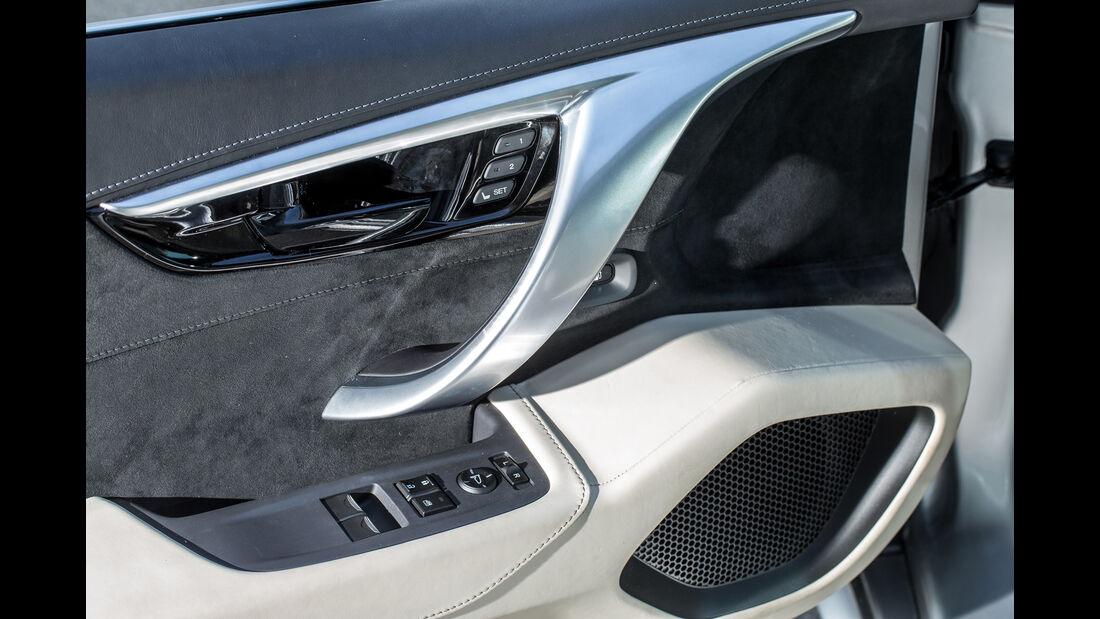 Honda NSX, Tür, Bedienelemente