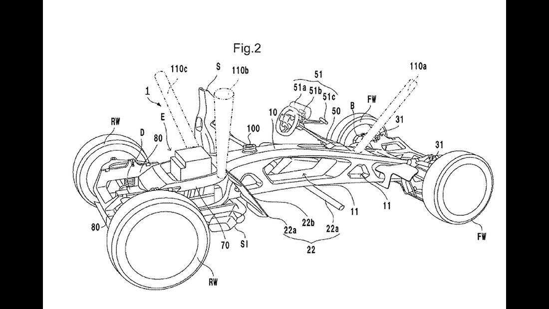 Honda Patentanmeldung Sportwagen Zweisitzer