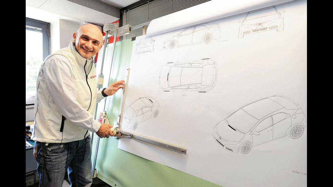 Honda Racing, Designstudie, Grafiken