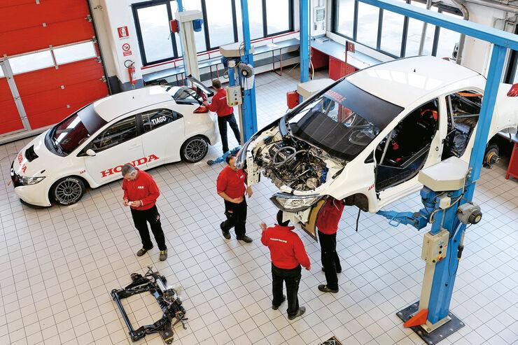 Honda Racing, JAS, Werkstatt
