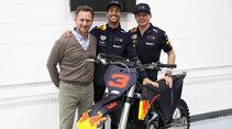 Horner, Ricciardo & Verstappen - F1 Winterpause 2018