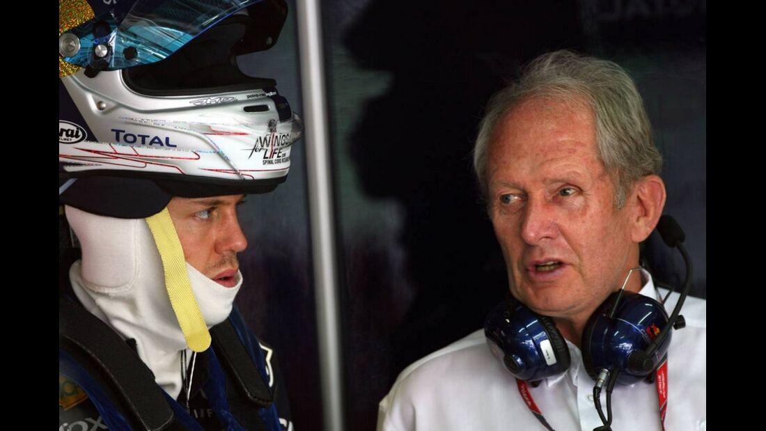 Horner Vettel GP Malaysia 2011 Formel 1