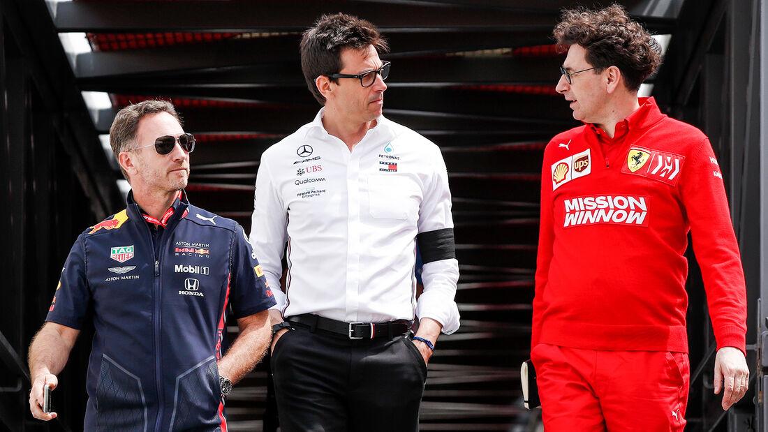Horner, Wolff und Binotto - GP Monaco 2019