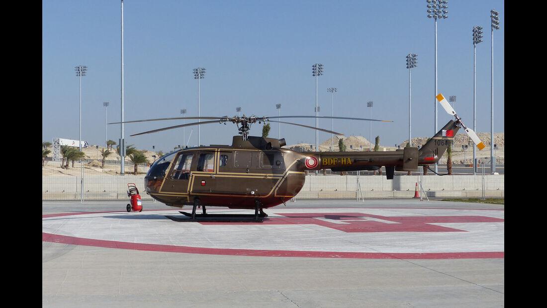 Hubschrauber - Bahrain - Formel 1 Test - 2014