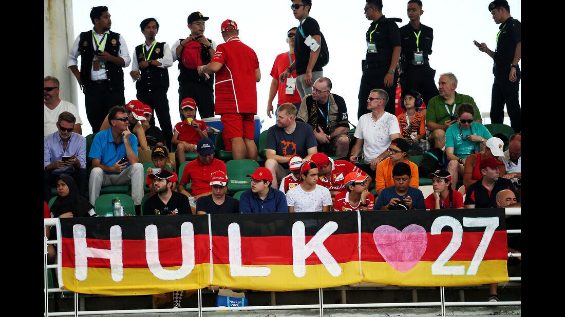 Hülkenberg-Fans - Formel 1 - GP Malaysia - Sepang - 30. September 2017