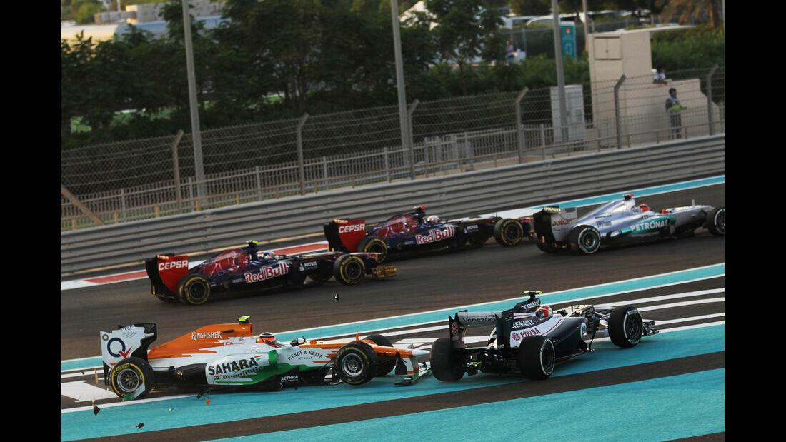 Hülkenberg GP Abu Dhabi  F1 Crashs 2012