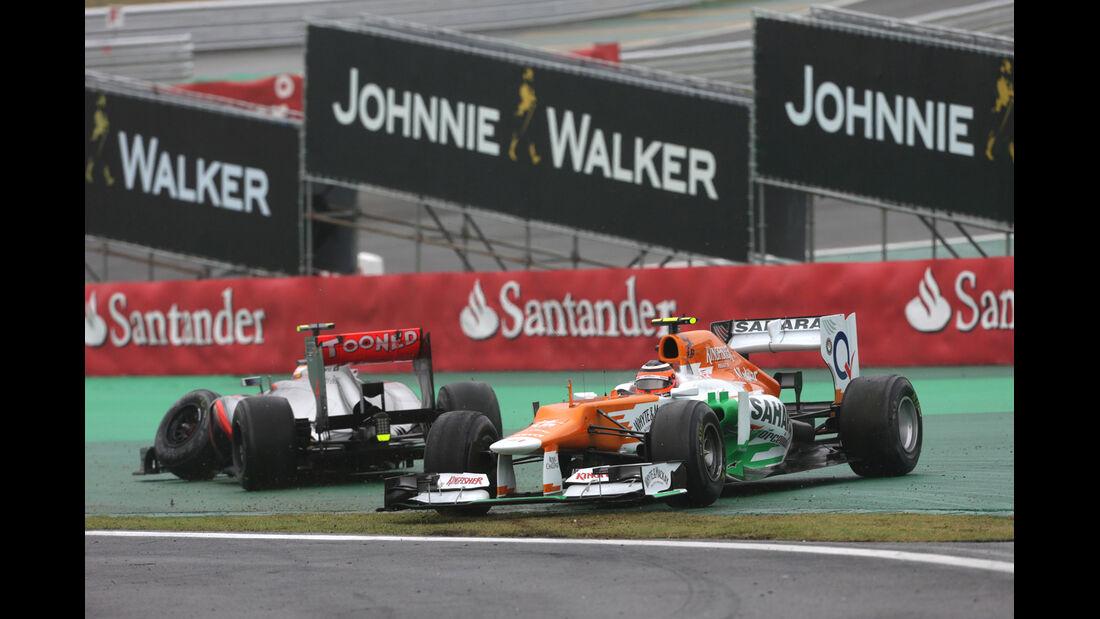 Hülkenberg GP Brasilien F1 Crashs 2012