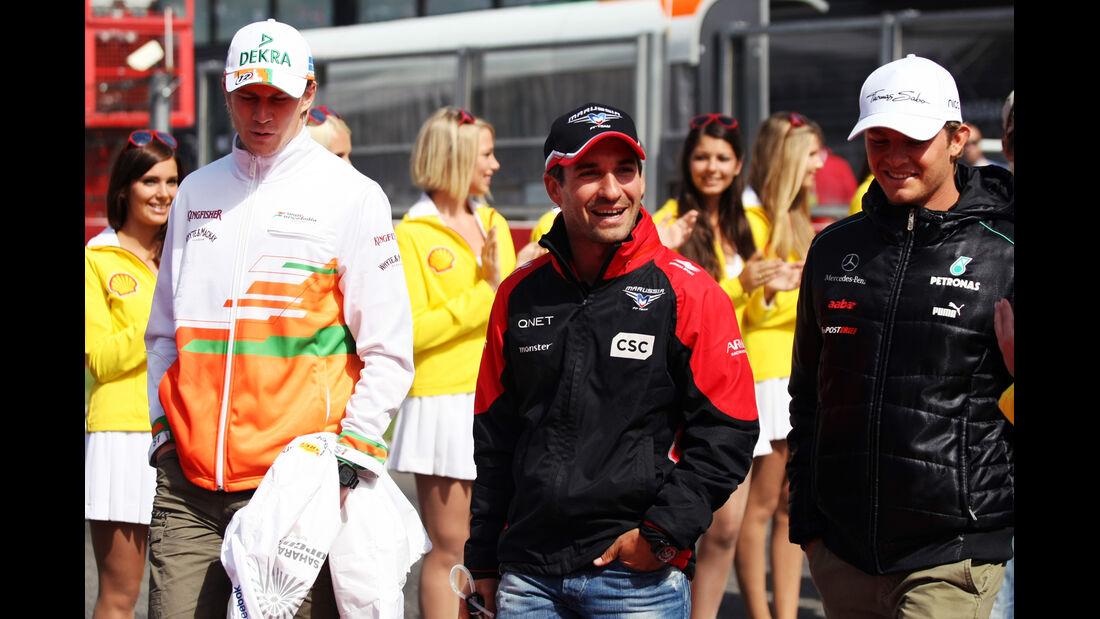 Hülkenberg, Glock & Rosberg - GP Belgien 2012
