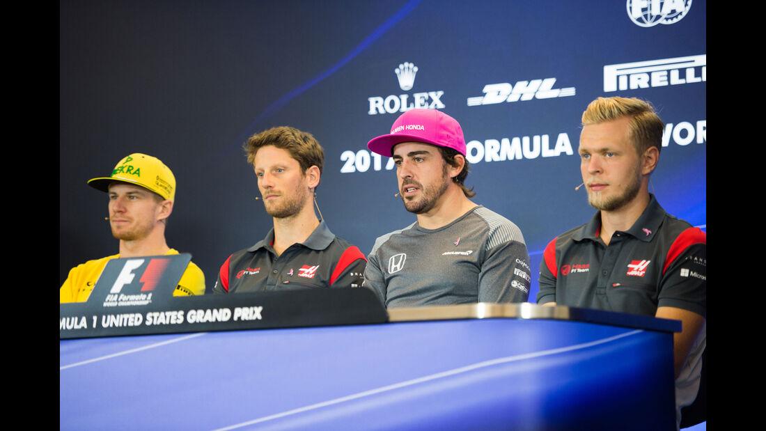 Hülkenberg - Grosjean - Alonso - Magnussen - GP USA - Austin - Formel 1 - Donnerstag - 19.10.2017