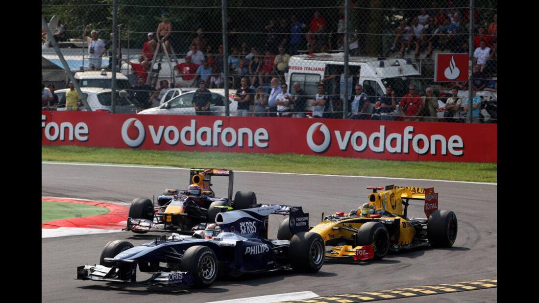 Hülkenberg, Kubica und Webber