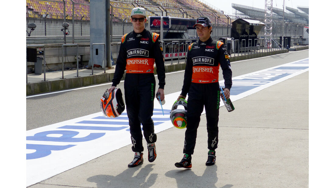 Hülkenberg & Perez - Force India - Formel 1 - GP China - Shanghai - 9. April 2015