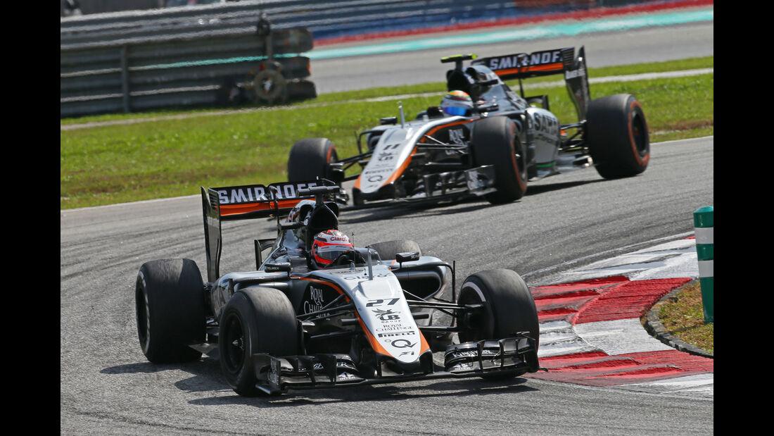 Hülkenberg & Perez - Force India - GP Malaysia 2015