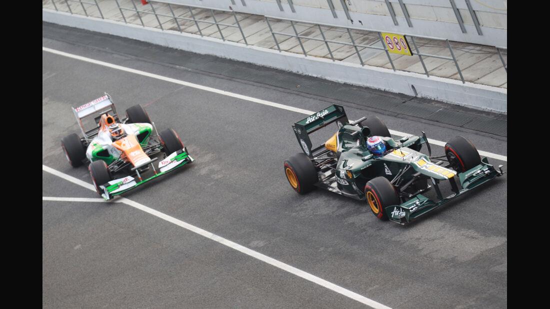 Hülkenberg & Petrov - Formel 1-Test - Barcelona - 2012